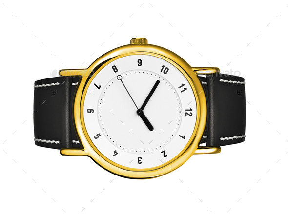 Golden watch - Stock Photo - Images