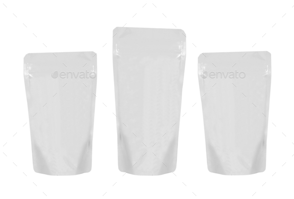 plastic pack isolated on white background - Stock Photo - Images