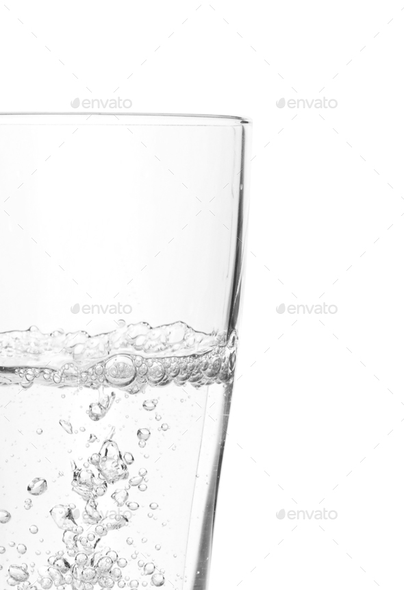 a Glass of water isolated on white background - Stock Photo - Images
