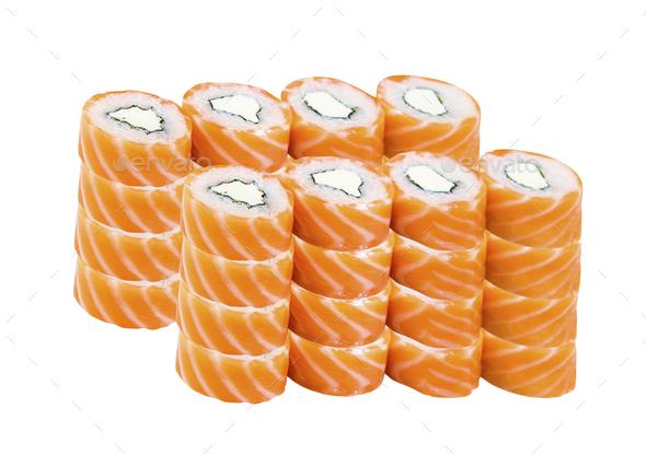 Sushi set isolated - Stock Photo - Images