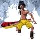 Cartoon Man Walks with a Snowboard