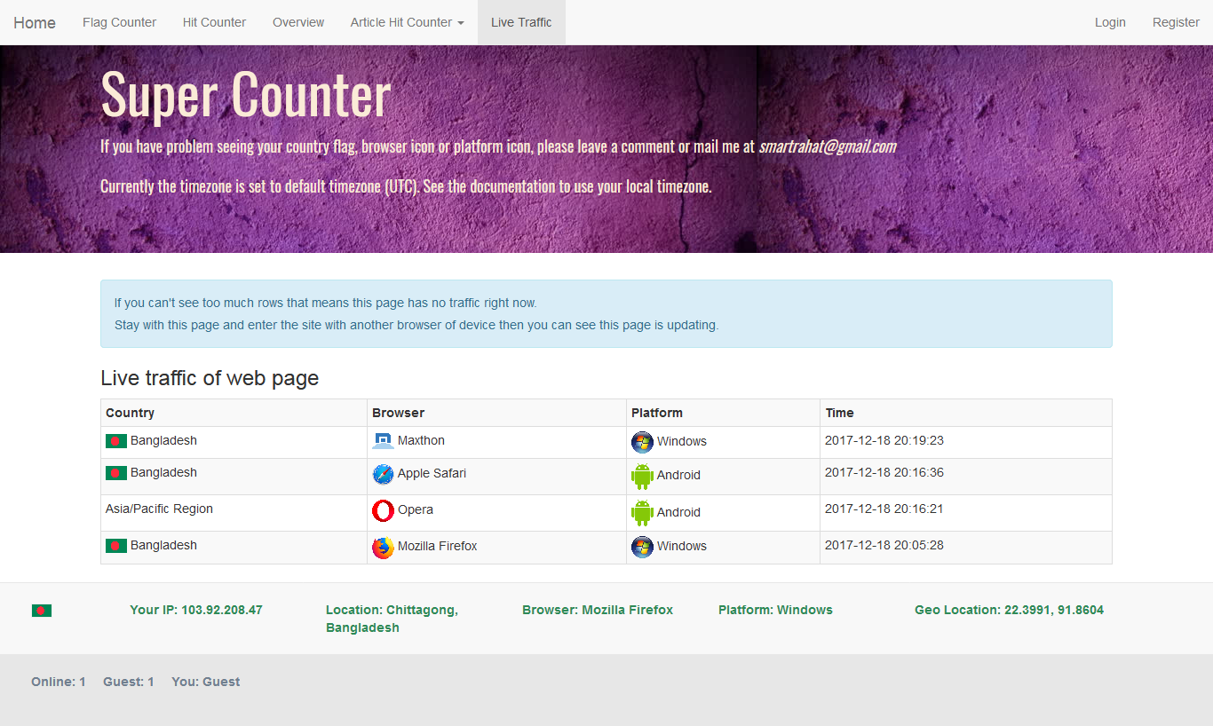 Super Counter - Laravel Page and Article Hit Counter
