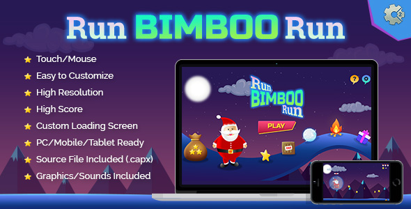 Run Bimboo Run - HTML5 Holiday Fun Game - CodeCanyon Item for Sale