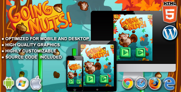 Going Nuts - HTML5 Physics Game - CodeCanyon Item for Sale
