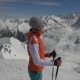 Young Woman Skier at a Ski Resort in the Alps - VideoHive Item for Sale
