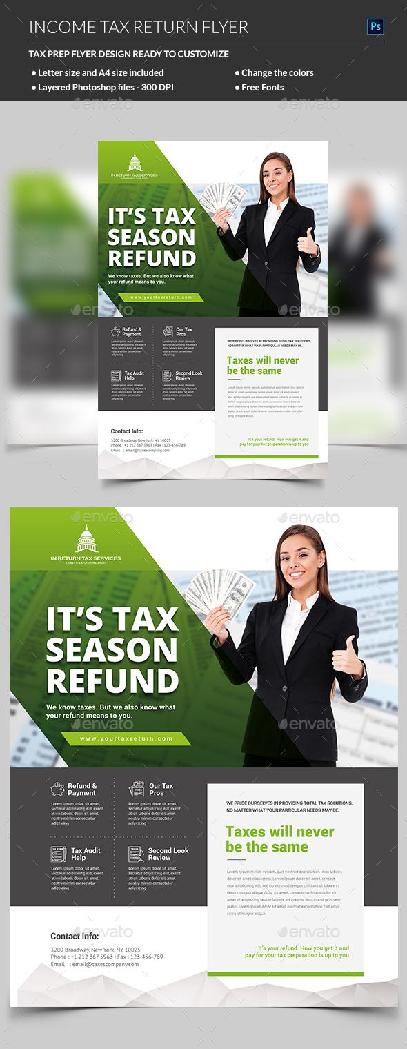 GraphicRiver Income Tax Flyer 21148897
