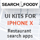 SearchFoody - Restaurant Search and Finder App UI Kits For iPhone X