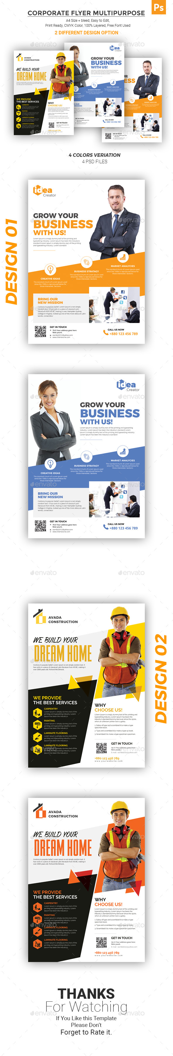 GraphicRiver Corporate Flyer Multipurpose 21149081