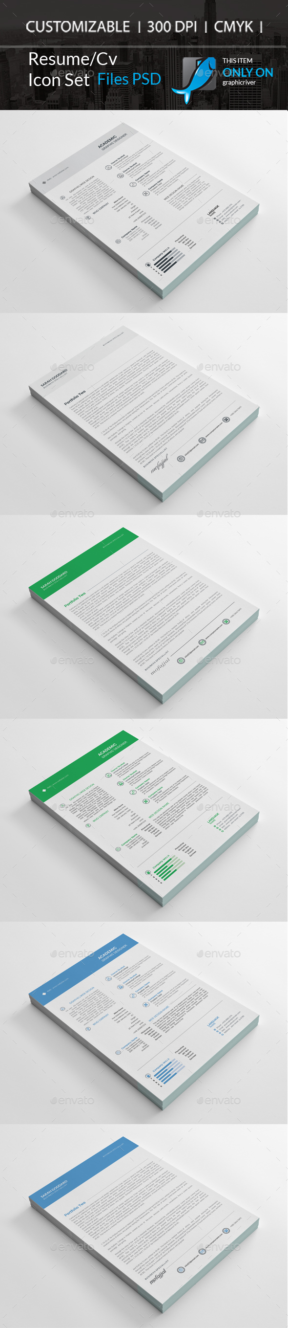 GraphicRiver Resume Cv 21149110