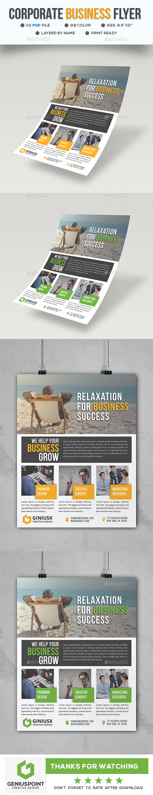 GraphicRiver Corporate Business Flyer 21149149