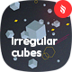 Irregular Cubes and Geometric Shapes Backgrounds