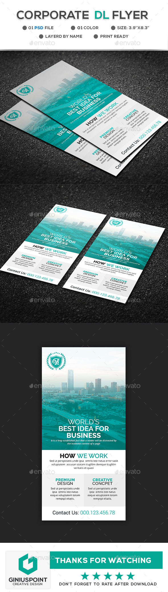 GraphicRiver Corporate DL Flyer 21149190