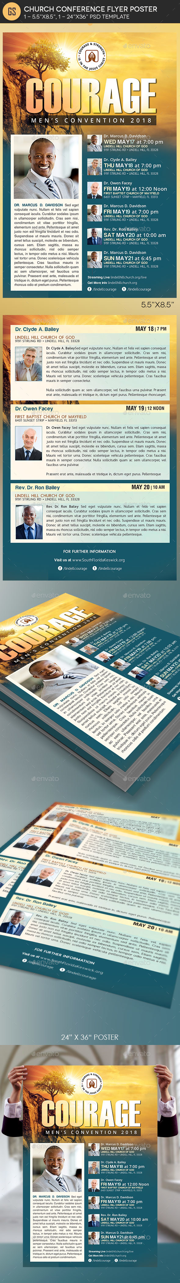 GraphicRiver Church Conference Flyer Poster Template 21149205
