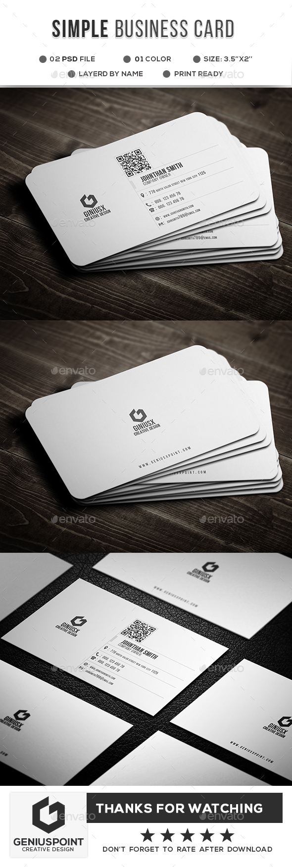 GraphicRiver Simple Business Crad 21149214