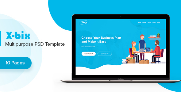 ThemeForest X-bix Multipurpose PSD Template 21149232