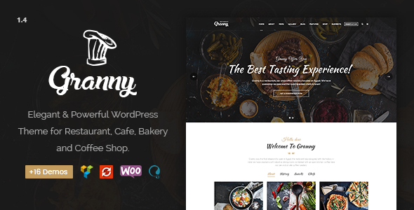 Restaurant Granny - Elegant Restaurant & Cafe WordPress Theme