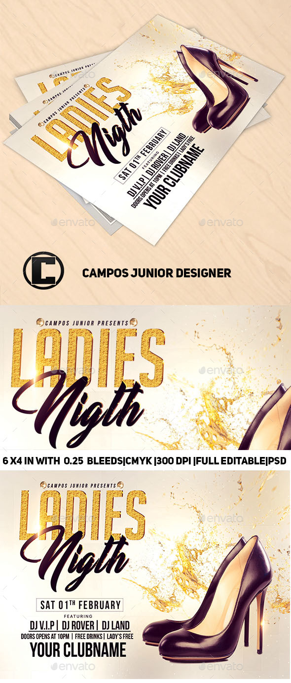 Ladies Nigth-Flyer Template - Clubs & Parties Events
