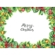Christmas Border Isolated on White Background - GraphicRiver Item for Sale