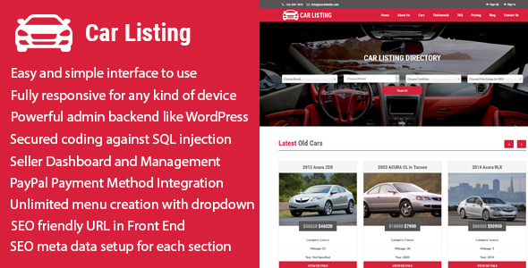 Carlisting - Auto and Car Listing Multi-Vendor Directory CMS - CodeCanyon Item for Sale