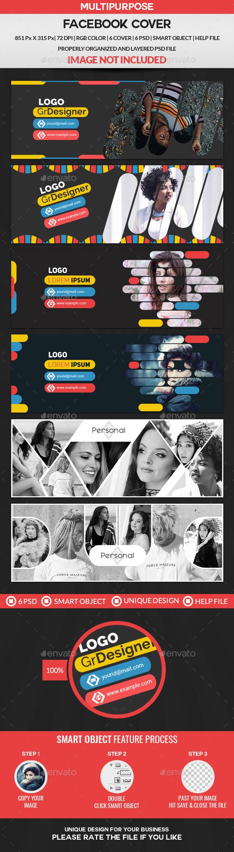GraphicRiver Facebook Cover Bundle 6 Design 3 Set 21149950
