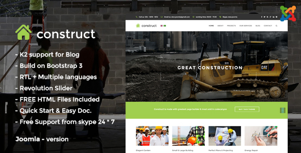 Image of Construct - Construction Joomla Template