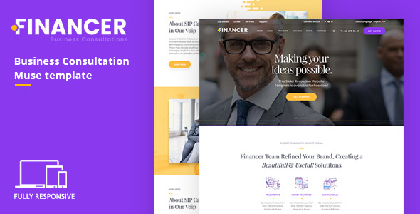 ThemeForest Financer Business Consultations Responsive Muse Template 21150007