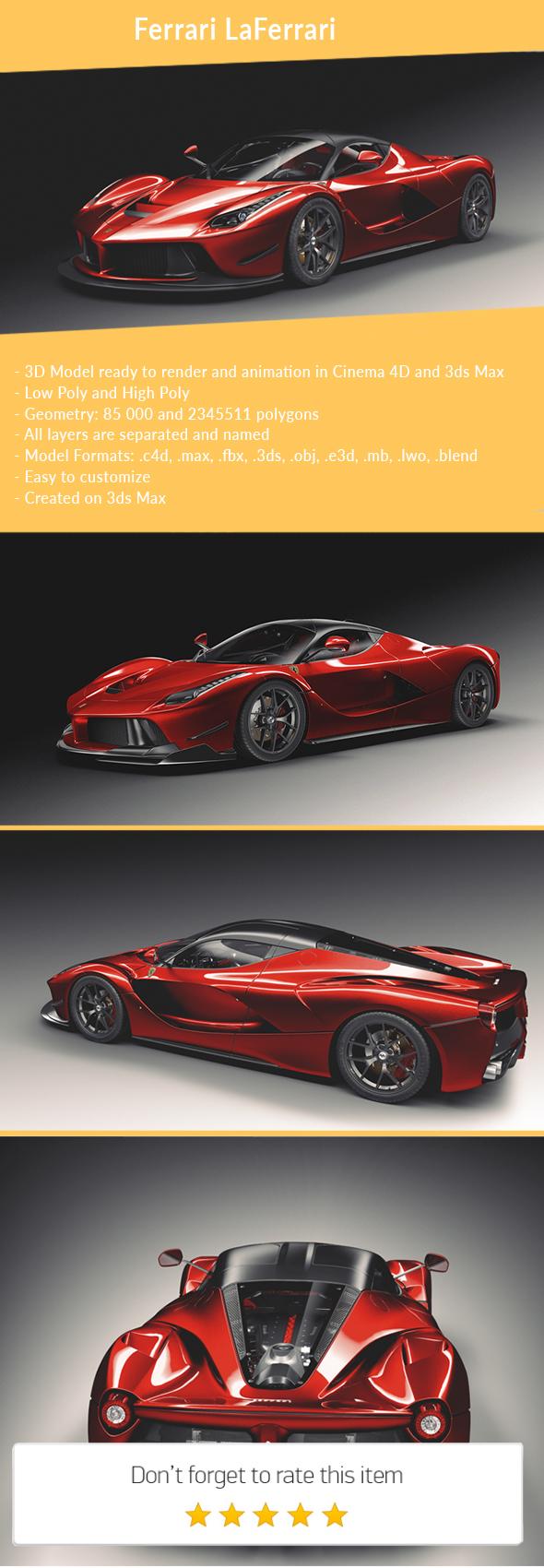 3DOcean Ferrari F70 LaFerrari 2014 21150008