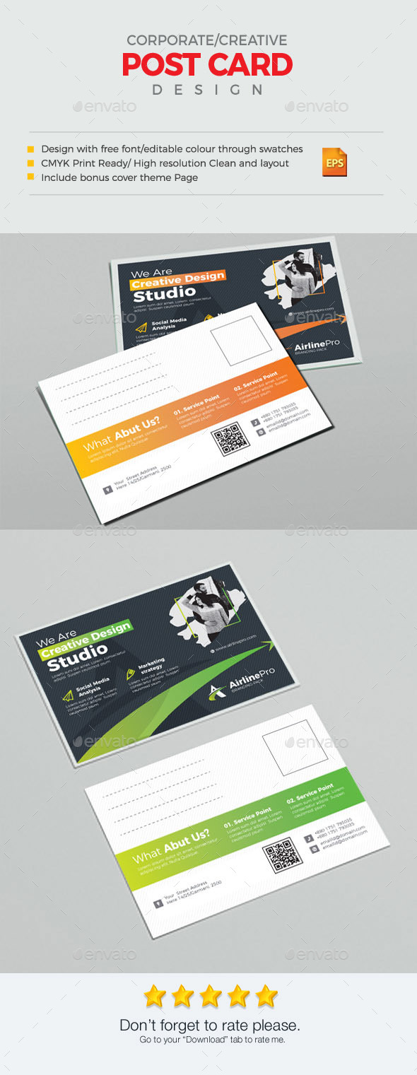 GraphicRiver Post Card 21150052