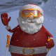 Christmas Santa Ski - VideoHive Item for Sale