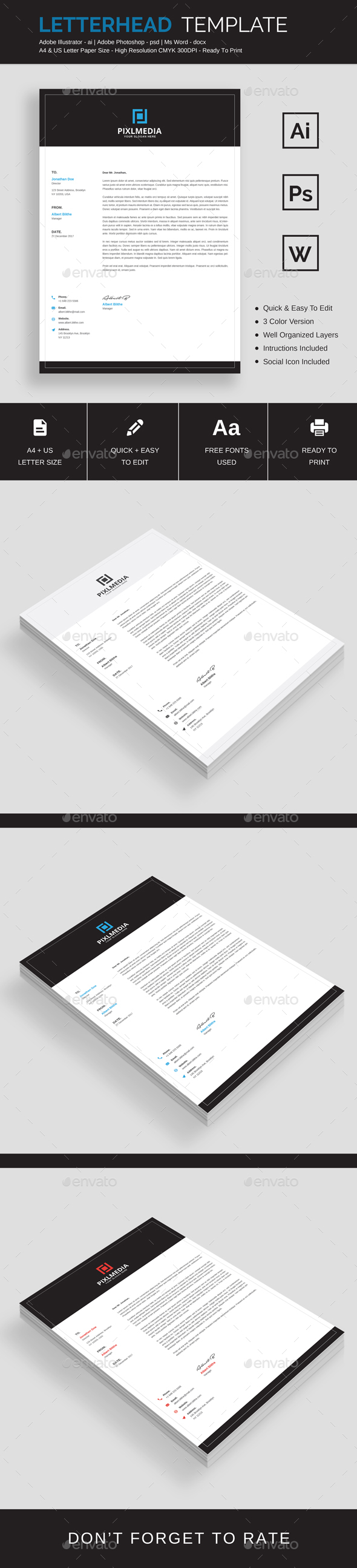 GraphicRiver Letterhead Template 21150097