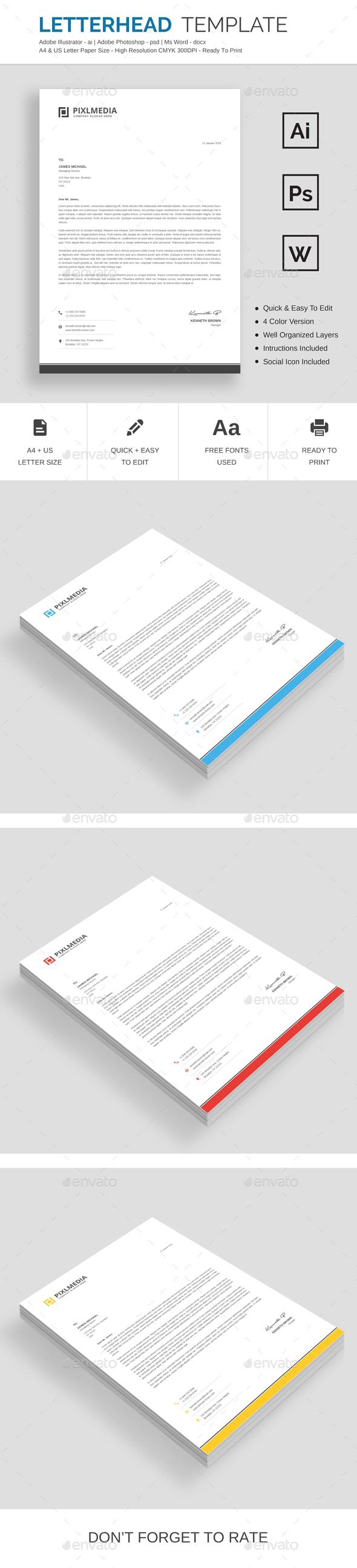 GraphicRiver Letterhead 21150120