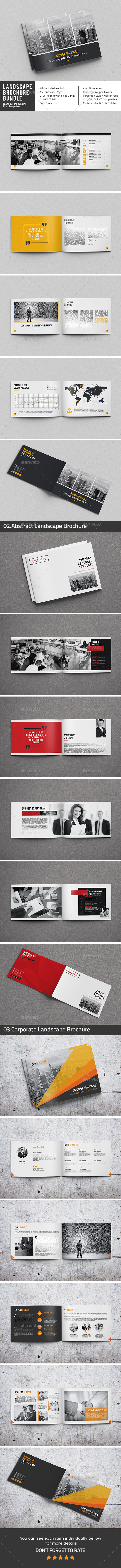 Landscape Brochure Bundle - Corporate Brochures