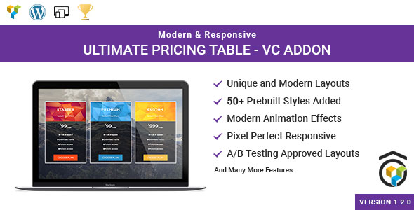 Ultimate Pricing Table - Visual Composer Addon - CodeCanyon Item for Sale