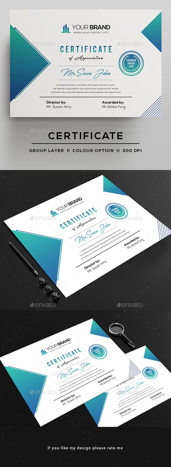GraphicRiver Certificate 21150259