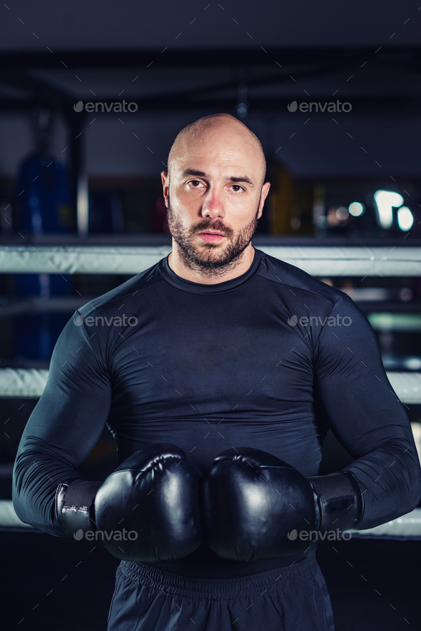 Man boxing - Stock Photo - Images
