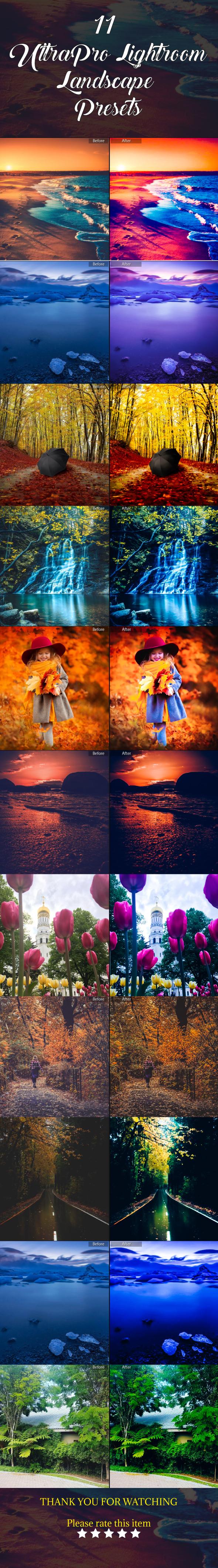 GraphicRiver 11 Ultra Pro Lightroom Landscape Presets 21150433