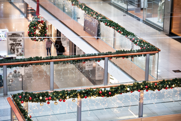 Shopping center at Christmas time. - Stock Photo - Images