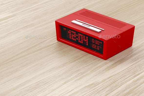 Digital alarm clock - Stock Photo - Images