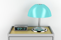 Nightstand with alarm clock and lamp - PhotoDune Item for Sale
