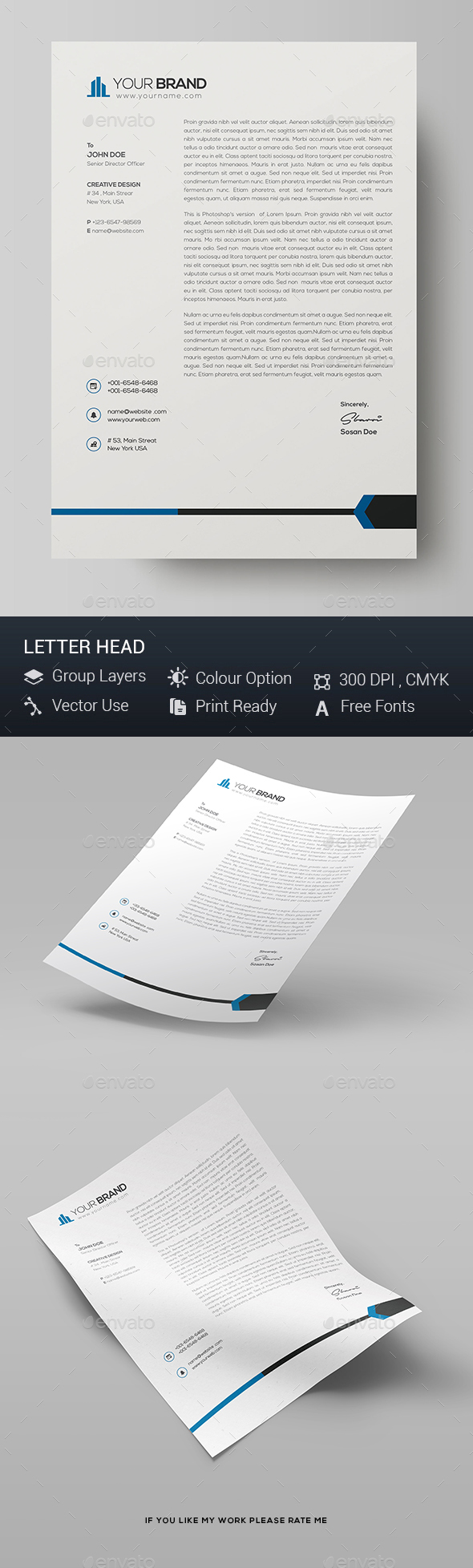 GraphicRiver Letterhead Template 21150446