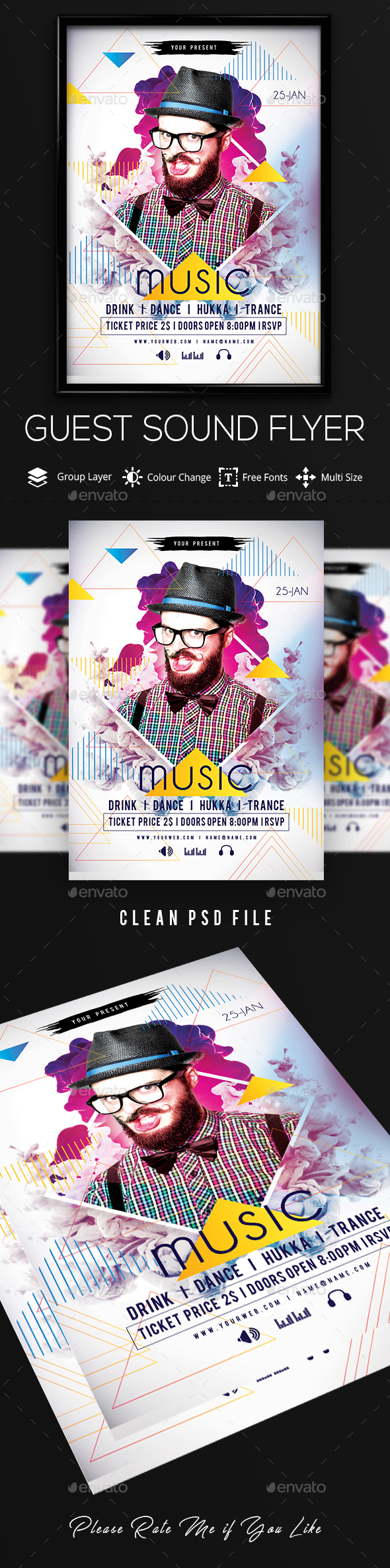 GraphicRiver Guest Dj Party Flyer 21150672