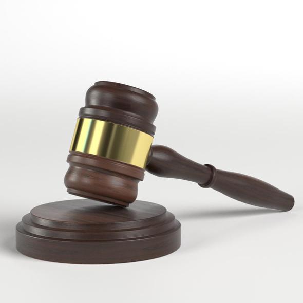 3DOcean Gavel Law Hammer 21150712