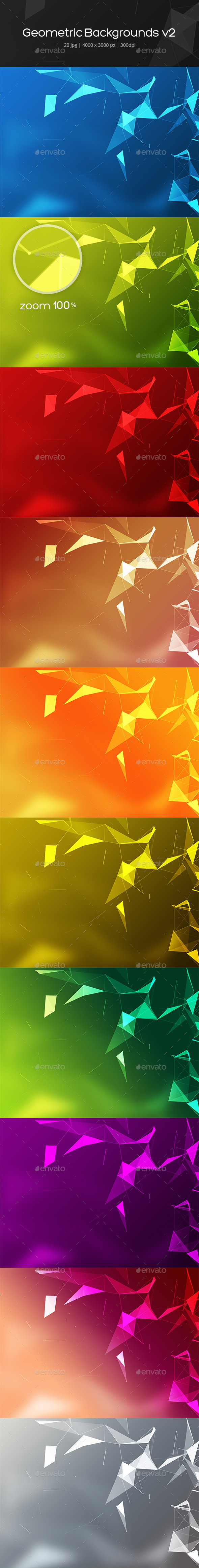 GraphicRiver Geometric Backgrounds v2 21150753