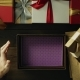 Dissapointed Man Opens Empty Christmas Present Box By Wooden Holiday Table, Top Down Shot - VideoHive Item for Sale