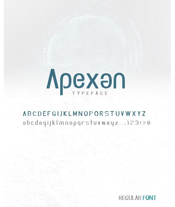 Apexan font - Cool Fonts