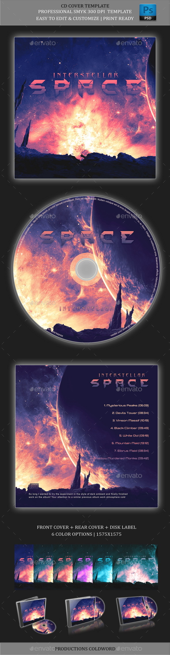 Album Cover CD Mock-Ups - CD & DVD Artwork Print Templates