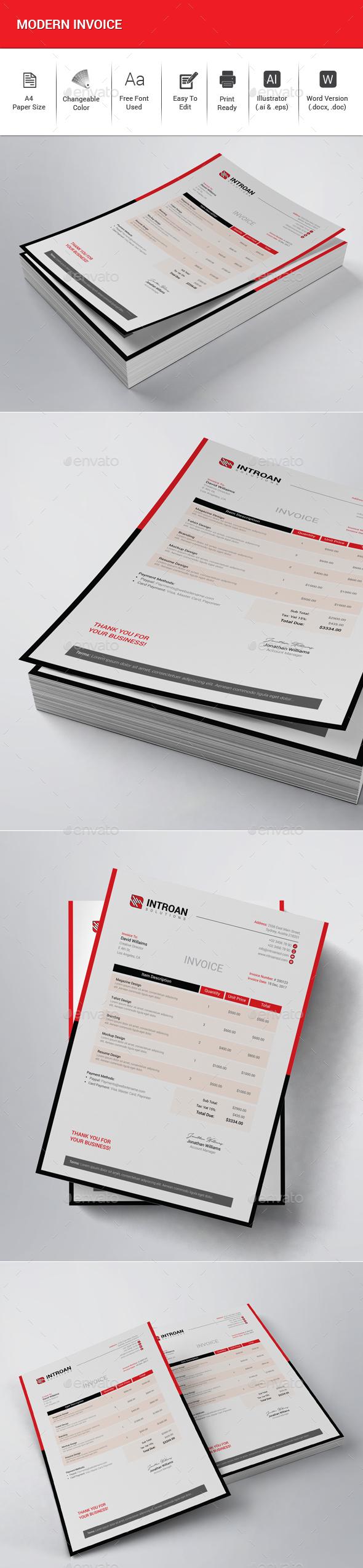 GraphicRiver Modern Invoice 21150878