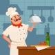 Professional Restaurant Cook Standing