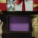 Dissapointed Man Opens Empty Xmas Present Box By Wooden Holiday Table, Top Down Shot - VideoHive Item for Sale