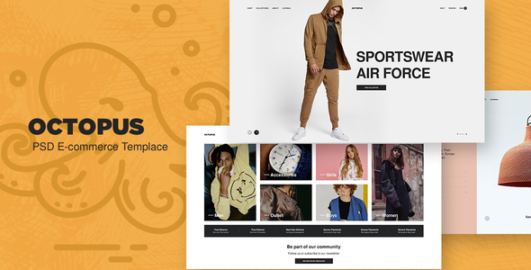 Octopus - eCommerce PSD Template
